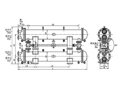 SGLL型双联油冷却器